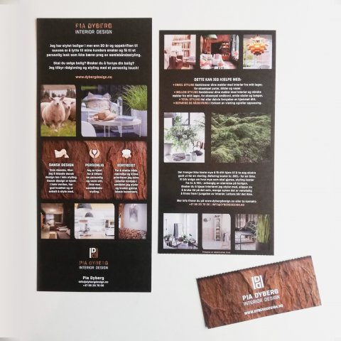 Pia Dyberg Interior Design Flyer design